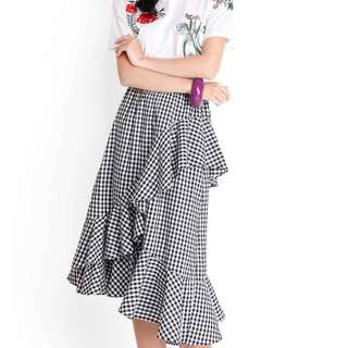 Lily Pirates - Seeker Of Rhythm Skirt In Gingham (M) SOLD OUT IN STORE