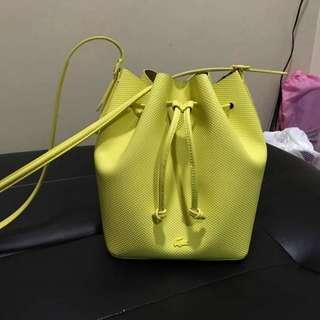 Lacoste Chantaco Leather Bucket Bag