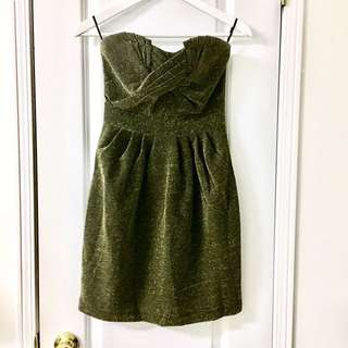 H&M Gold/Black Party Dress