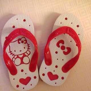 🌺(日本手工)hello kitty 兒童夾腳拖鞋 凱蒂貓 沙灘鞋  愛心 蝴蝶結 點點 紅色夾腳拖