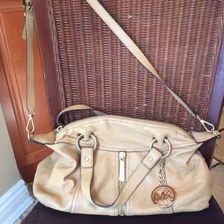 Michael Kors Camel Leather Crossbody Purse