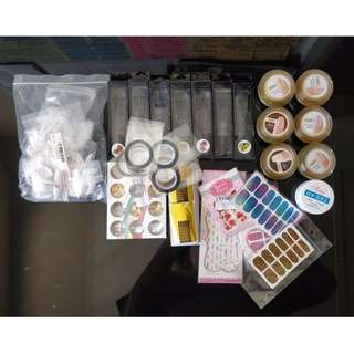 SPRING SALE! Nail Extension Huge Package - Nail Tips, UV Gel, Wraps, Foil, Tapes, Forms, Cuticle Oils