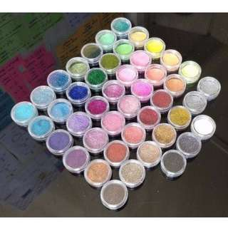 SPRING SALE! 45 Nail Glitter Pots Nail Art Design All Different Colours Metallic Pastel