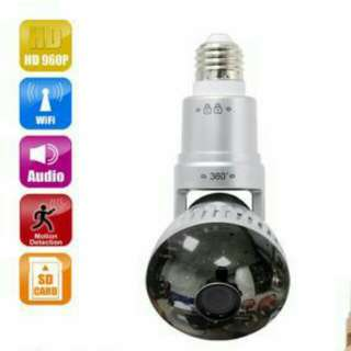 Smart IP Cam WiFi LED Bulb IP Camera Rotatable IP Video Surveillance Camera LED Light 2Way Speaker Spy Cam Baby Monitor
