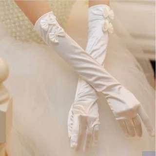 📣(Free.pos)Satin Ribbon Elbow Length Hand Gloves