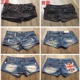韓國牛仔短褲S號