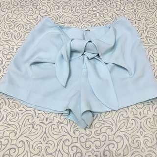 日本品牌Dazzlin 藍綠色蝴蝶結綁帶短褲