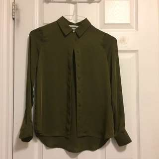 Olive Green Business Attire Top