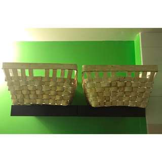 Two Rectangular baskets can be sold separately nothing is wrong with them (mint condition)