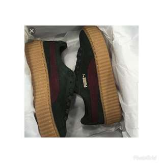 Price Drop!!!Puma Rihanna creepers in bordeux