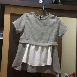 Atasan abu / baju kerja