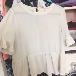 *PRICE REDUCED* Kate Spade Ruffle Sleeve Blouse