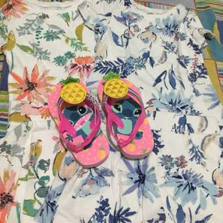 Old Navy Terno Blouse with Palda Short