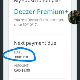 Deezer premium for 3 months