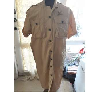 Flying Colours Bone Safari Shirt LONG Size 10
