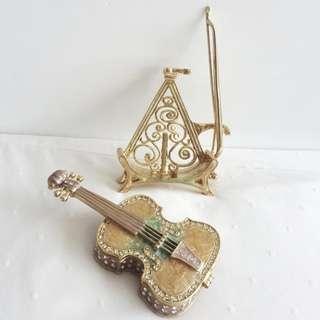 全新弦樂器迷你首飾盒 Brand new violin / viola / cello mini secret box