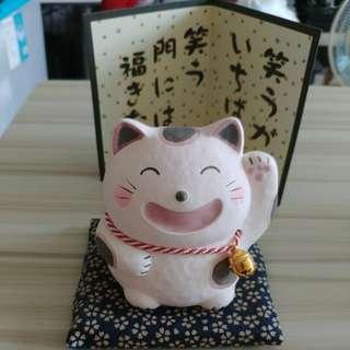 日本神社招財貓擺設
