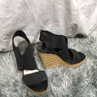 Jessica Simpson strappy platforms