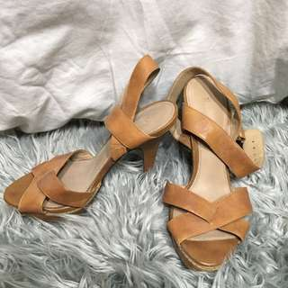 Zara strappy platforms
