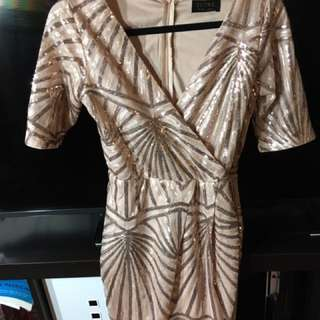 Club L Rose gold dress
