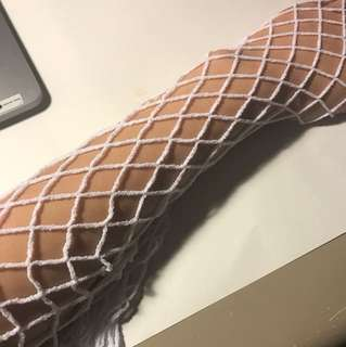 White Fishnet Stockings (ONE SIZE)