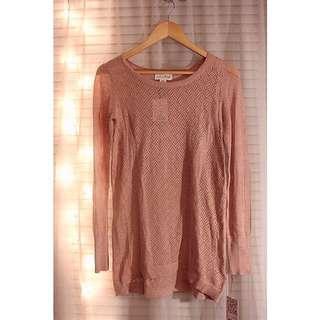 Shrinking Violet Pointelle Sweater