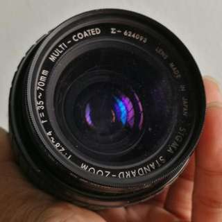 Sigma 35-70mm 2.8-4 Standard Zoom