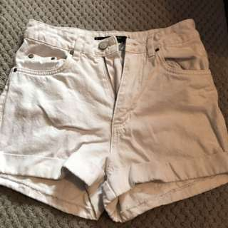 White factorie shorts