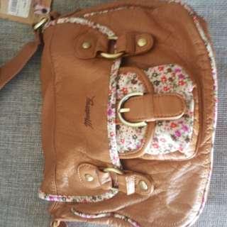 Mantray tan satchel bag