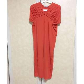 英國購入 COS橘紅洋裝