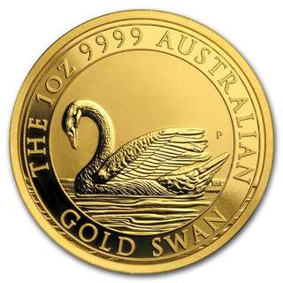 Sold; Presently awaiting new stock 2017 Australia 1 oz Gold Swan BU  1 oz 1oz (31.1 grams) Pure Gold Bullion Coin 999.9 fineness. Worldwide Mintage of 5000 coins only