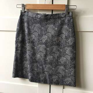 Gorman Black White Mini Skirt