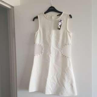River island cream dress