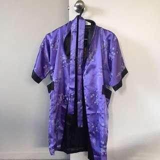 Silk Reversible Robe