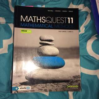 Maths methods year11 textbook