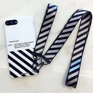 Off White Case Cover Casing Zebra with 2 lanyard Iphone 6, 6s, 6+, 6+s