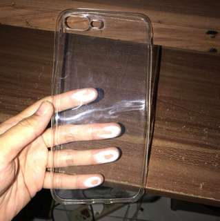 iphone softcase transparant 7+
