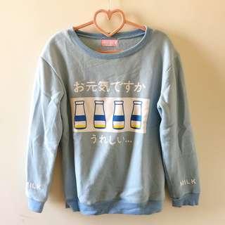 ♡可愛牛奶大學T♡