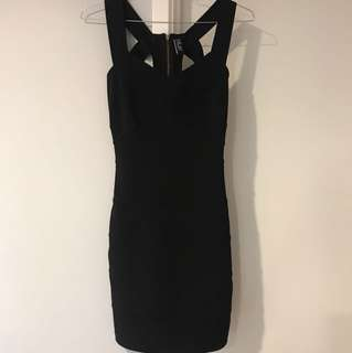Black bandage dress size 6/8