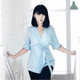 TheVoile Blue Top