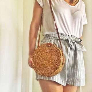 Rattan | Straw | Sling | Messenger Bag | Vintage | Summer