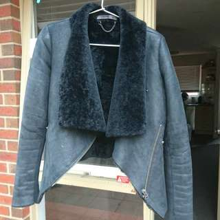 SCANLAN AND THEODORE LAMBSKIN JACKET SZ 8