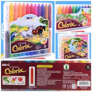 韓國品牌AMOS可水洗安全無毒旋轉蠟筆