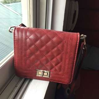 Parisian Red Quilted Bag
