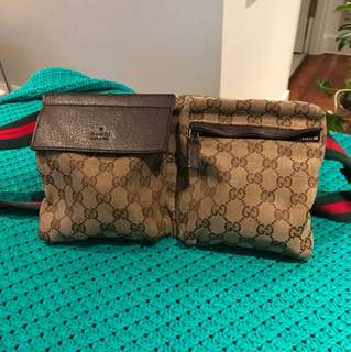 Authentic Canvas Gucci Bumbag