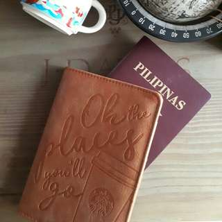 Starbucks (Singapore)Brown Passport Holder