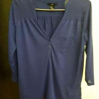 H&M 3/4 sleeve blouse