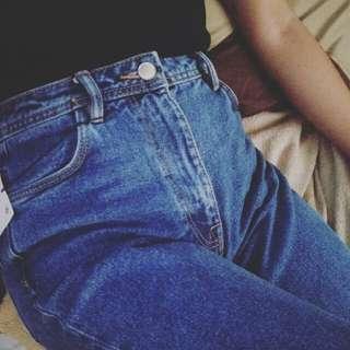 High-waisted Zara Mom Jeans