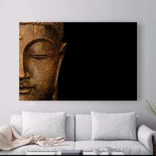 Buddha head wall canvas