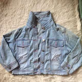jeans crop blue pink